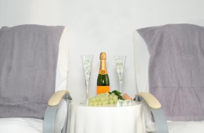 Bellissima, Feiern, Champagner, Wohlfühlen, Kosemtik, Kosmetikstudio, Frauenausflug
